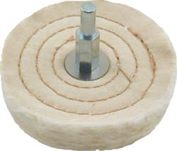 Extra Thick Mounted Spiral Sewn buffing wheels