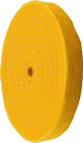 6 inch treated spiral sewn buffing wheel